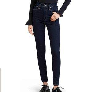 Levi's Premium Mile High Rise Skinny Jeans sz 25